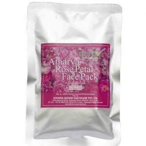 Biologische Rosenblüten Gesichtspackung